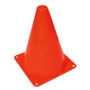set of 12 orange cones 7.5 inches tall - 1
