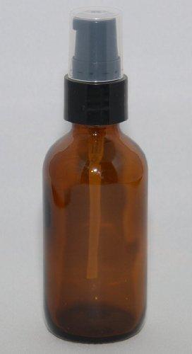 1oz Amber Glass bottle with Black Fine Mist Sprayer PK of 6 - 2