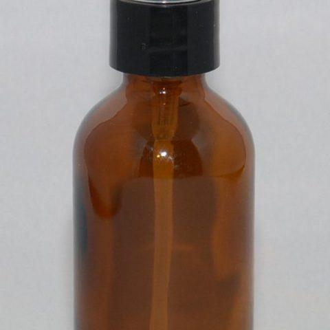 1oz Amber Glass bottle with Black Fine Mist Sprayer PK of 6 - 1