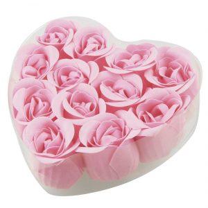Product Name : Rose Bud Petal Soap;Design : Rose Shape Color : Pink