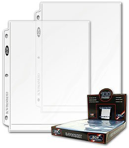 20 (Twenty Pages) - BCW Pro 8 X 10 Photo Page (1 Pocket Page) 20 (Twenty) - BCW Pro 1 Pocket 8 X 10 Photo Page Holds an 8 x10 Photo Dimensions: Pocket 10 1/2 x 8 1/4 and Page 11 7/16 x 9 Made of heavy- duty Polypropylene. Made in USA! Don't FORGET Albums & Portfolios - EACH Sold Separately ... - 1