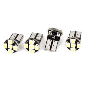 """New - Retail packaging maybe distressed/damaged. Product Name : Car LED Light;LED Type : 1210 SMD LED Quantity : 5;Light Color : White Socket Type : T10;Voltage : DC 12V Each Size : 18 x 10 mm / 0.7"""" x 0.4""""(L*W);Net Weight : 6g Package Content : 4 x Car LED Light - 2"""