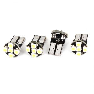 """New - Retail packaging maybe distressed/damaged. Product Name : Car LED Light;LED Type : 1210 SMD LED Quantity : 5;Light Color : White Socket Type : T10;Voltage : DC 12V Each Size : 18 x 10 mm / 0.7"""" x 0.4""""(L*W);Net Weight : 6g Package Content : 4 x Car LED Light - 1"""