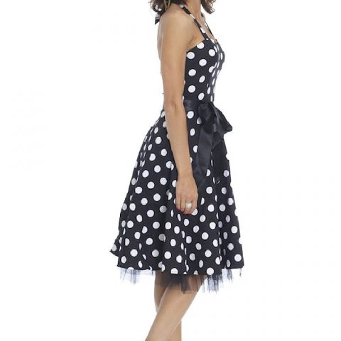 50s Style Rockabilly Halter Dress
