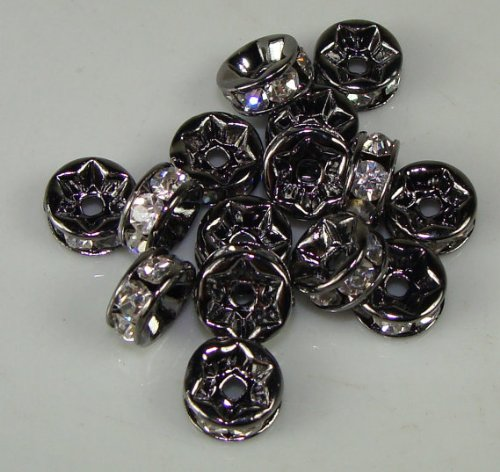 Product Description These are really popular right now for basket ball wife earrings. These are great because they have alot of bling and are light weight for big earrings. Loaded with little rhinestones each bead is 5mm. This is for 36 beads. - 2