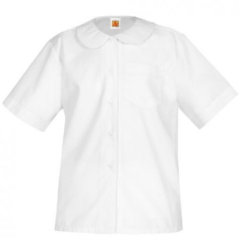 White) Short Sleeve Broadcloth 65% cotton / 35% polyester Sizes: Youth YXXS-YXL