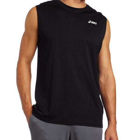 100-percent Polyester Knit Hydrology technology is used in the making Features the Asics logo in the left chest - 1