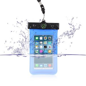 """Waterproof Bag /Pouch for mobile phones up to 5.5"""" screen displays. Fits iPhone 6 plus/6/5s/5/5C/4/4s/3gs"""