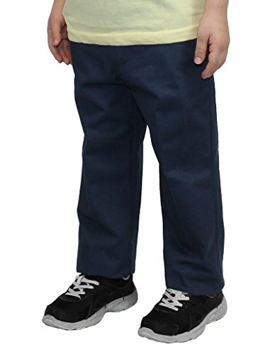 Internal Adjustable Waist Double Knee Enforcement and Playground Approved Zipper Closure 60% Cotton / 40% Polyester Machine Wash Durable Twill For Long Lasting Pants - 1