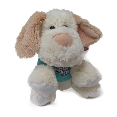 Comes in three different cuddly animals! Attach to hospital beds
