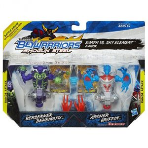 Distressed Package Beyblade Shogun Steel BeyWarriors Earth vs. Sky Element 2-Pack - 1