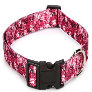"""Bundle includes adjustable Pink Casual Canine Bone Heads Dog Collar & Pink Casual Canine Bone Heads Dog Lead 4'L x 5/8""""W 2 Piece Set Bone Heads Dog Collar features a unique skull design and black plastic buckles with nickel plated D-ring Bone Heads Dog Lead features a unique skull design and nickel plated D-ring and quick release swivel clip 100% Polyester - 2"""