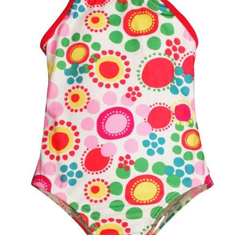 Bunz Kidz - Baby Girls Flower Dot 1 Piece Swimsuit