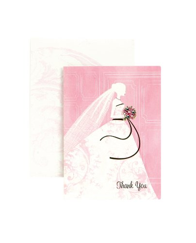 """we cant confirm this fits """" data-fitsmessage=""""This fits your """" class=""""aok-hidden""""> Box of 12 blank Thank You cards decorated on the front with a sophisticated bride and the words Thank You"""