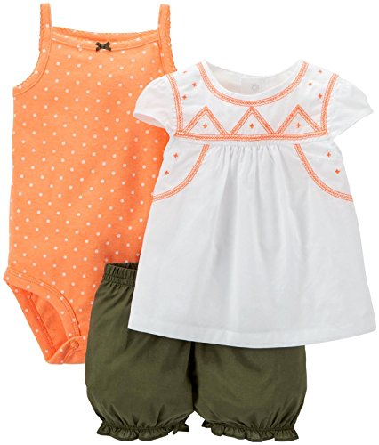 Top & shorts: 100% cotton jersey; bodysuit: 100% cotton rib Machine washable 3 pc S/S Set - 2