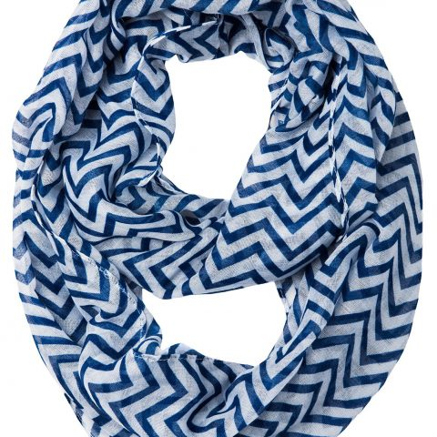 100% Polyester Cotton Cantina Brand Sheer Infinity Chevron Scarf 19 inches wide (approx.) 60 inches loop (approx.) Various Colors Available Semi Sheer Fabric - 1
