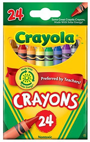 Classic crayons. True hues and intense brightness in primary and secondary colors. Double wrapped for extra strength. Includes key primary and secondary colors Convenient small package Double-wrapped crayon for extra strength Preferred by Teachers Made in America - 2