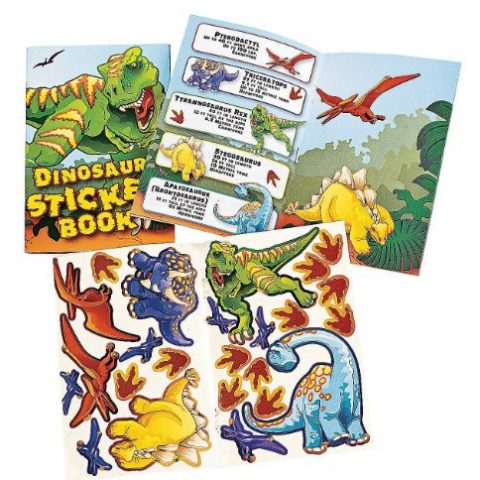 Fun Express 12 Dinosaur Sticker Book 6 inch mini books each has 10 pages and includes 24 stickers 12 books per order - 2