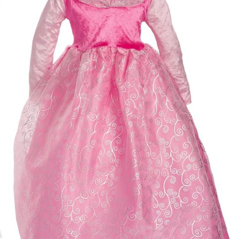 """Little Adventures 12162 Deluxe Sleeping Beauty Costume (Ages 3-5) + Hair Bow Includes Princess Dress and Princess Hairbow Machine Washable; line dry No itchy fabrics or trims Fits girls ages 3-5 years and is 31"""" from shoulder to hem Clothing made from quality fabrics made for repeat use and play - 2"""
