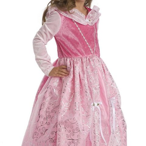"""Little Adventures 12162 Deluxe Sleeping Beauty Costume (Ages 3-5) + Hair Bow Includes Princess Dress and Princess Hairbow Machine Washable; line dry No itchy fabrics or trims Fits girls ages 3-5 years and is 31"""" from shoulder to hem Clothing made from quality fabrics made for repeat use and play - 1"""