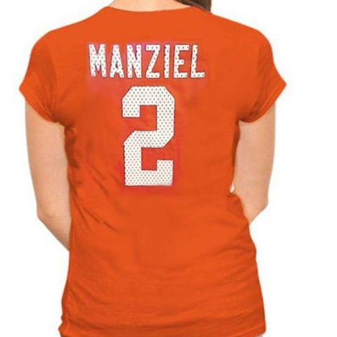 Officially Licensed NFL Apparel Screen Print Browns/Manziel Name and Number 2 Machine Washable Color: Orange Available in Plus Sizes M-4XL - 1