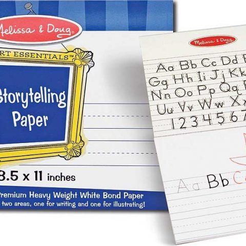 """Melissa Doug Storytelling 8.5""""x11"""" Paper Pad Made using the highest quality materials Tested to be safe and durable Great fun for your baby and child Top-bound pad of paper for writing and drawing stories Each sheet is divided into two areas: one for writing and one for drawing 50 sheets of premium heavy-weight bond paper Pages tear out cleanly for sharing or display Ideal for beginning writers - 1"""