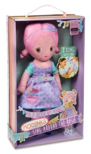 huggable Mooshka rag dolls come with paper doll chains