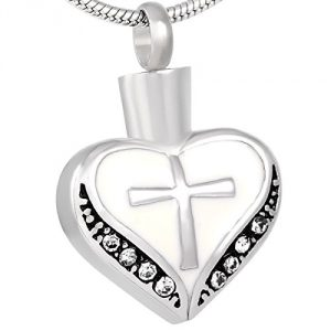 """Keep the memory of your loved one close to your heart with this beautiful unique pendant Outsize Size: 3/4"""" W x 1-1/4"""" H Make a Perfect Gift 20"""" elegant neckchain stainless steel & Presentation Box Included - 2"""