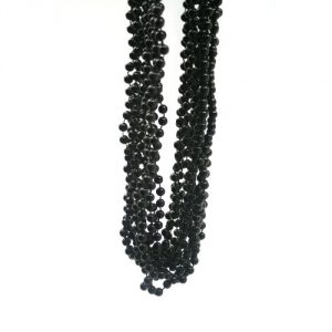 "Black Beads : package of 12 33"" gold beads"