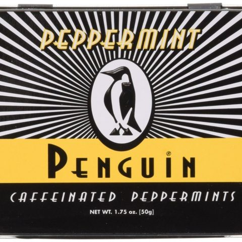 Original Peppermint Flavor--best selling caffeinated confection for 10 years running 3 Mints are caffeine equal of 1 12 ounce cola beverage Portable source of energy Penguin Mints are the pioneer of caffeinated confections--Established 1997 Sugar Free - 1