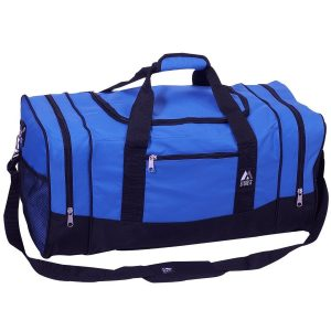 Danaged Packaging Contents P{erfect 600d Polyester Spacious main compartment with zippered clamshell opening Dual zippered side compartments Dual side mesh pockets Front zippered pocket - 1
