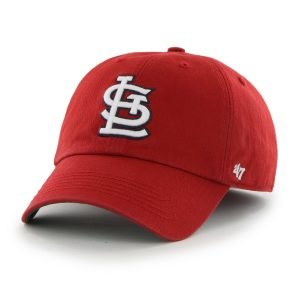 51/49 RPET Imported Officially licensed by Major League Baseball Raised embroidered St. Louis Cardinals logo on front of cap 47 Brand circle logo button Fitted cap