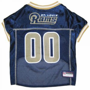 Satin and polyester mesh jersey with contrast neck and sleeve trim Front has sewn on embroidered nfl logo with screen printed team logo and city name back has screen printed team word mark numbers and a sewn on jock tag for personalization Machine wash cold delicate line dry do not iron - 2