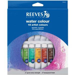 Reeves 18-Pack Water Color Tube Set