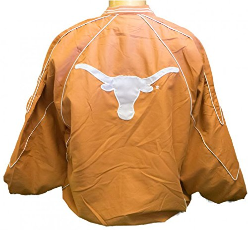 Texas Longhorns Pullover V-Neck Windshirt Jacket - Orange (Small) Two Front Pockets Quality Embroidery on Front and Back Zipper on Side to assist in On/Off - 2