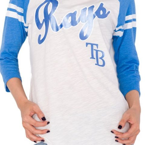 Womens MLB Tampa Bay Rays 3/4 Sleeve Shirt X-Large Team name on front