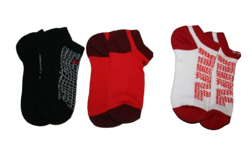 Black/Red/White) 71% Cotton/27% Nylon/2% Spandex Machine Wash 3 Pack - Cushioned - No Show Soft - Dry SMALL: Sock Size: 7-8.5 - Shoe Size: 3Y-5Y - 1