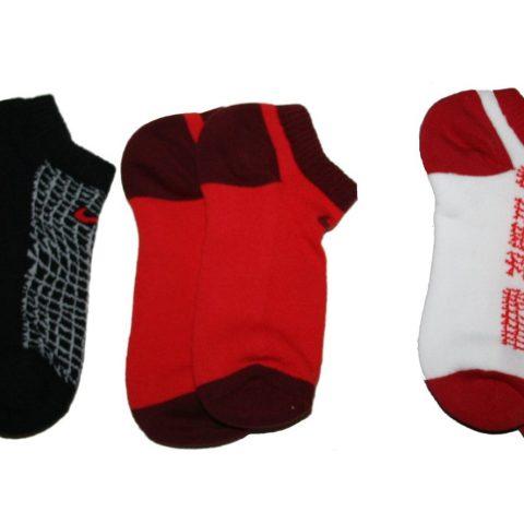 Nike Big Boys' Performance Cotton Cushioned No Show Socks 3 Pack (Small