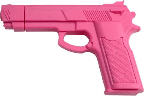 """Rubber Training Gun 7"""" Inches Overall Pink Painting Made From High Quality Hard Rubber Molded To Look And Feel Like The Real Item - 1"""