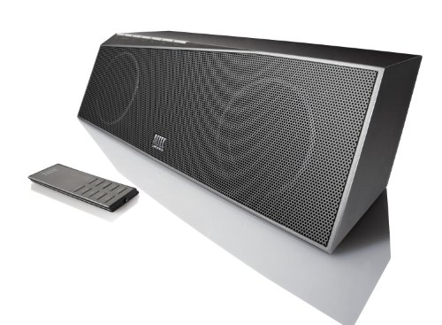New but not in original box. Play your music wirelessly up to 300 feet away from your computer (compatible with Apple's Remote app) Also stream music wirelessly from your iPhone
