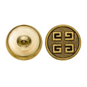 Size 30 Ligne Antique Gold finish 36 pieces per pack Hopper back button shank Made in the USA - 1
