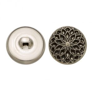 Size 30 Ligne Antique Nickel finish 36 pieces per pack Hopper back button shank Made in the USA - 1