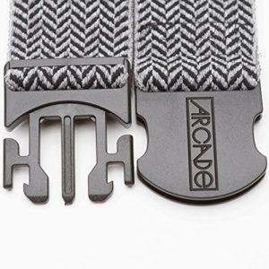 Comfort Fit Elastic/ Felt Herringbone weave pattern LockFit Speed Buckle Logo suede patch near buckle Weatherproof - 2