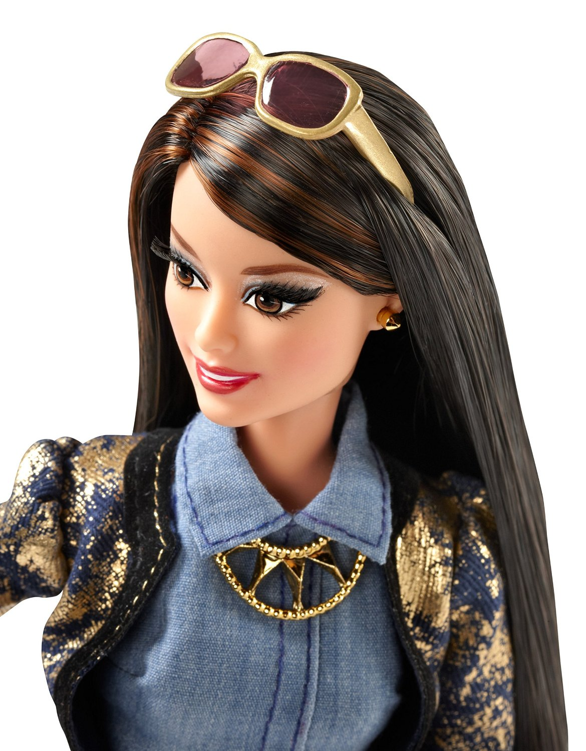 New Barbie Style Raquelle Gold Denim Jacket Doll Discounted Retail Products Coupons
