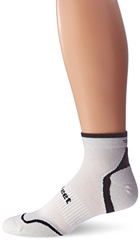 imperceptable toe seam forefoot and heel padding mid-foot support sculpted left/right fit Made from recycled CoolMax EcoMade? fiber. - 1