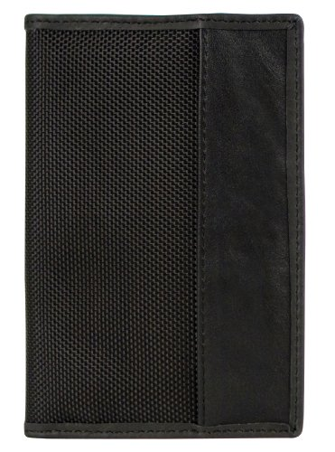 1680d Polyester/cowhide Leather Trim Prevents unauthorized access to personal information Many debit/credit cards have RFID chips with personal data Effectively blocks RFID readers Prevents unauthorized access to personal information Many debit/credit cards have RFID chips with personal data Design enables passport to scan without removal from case - 1
