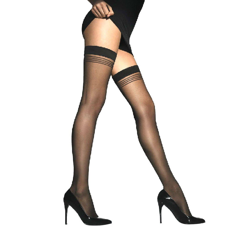 Home Goods Home Decor Woman Black Stretchy Thigh High Sexy Sheer Stockings