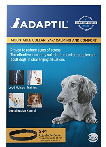Clinically proven to reduce stress related behavior Improves puppies speed of adaptation to a new home Significantly reduces anxiety during and following thunderstorms Safe to use with Flea and Tick control topical - 1