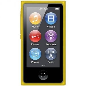 Amzer Soft Gel TPU Gloss Skin Fit Case Cover for Apple iPod Nano 7G (Translucent Yellow)