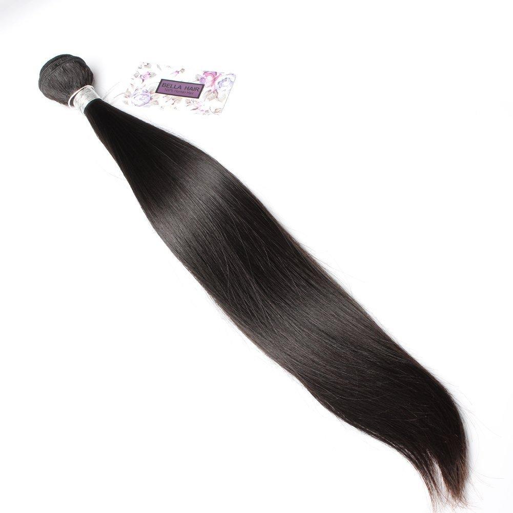 Bella Hair Human Hair Weave Peruvian1 Bundles 8 34inch Natural Black